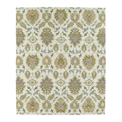 Kaleen - Kaleen Taj Collection TAJ14-03 7'6 x 9' Beige - The Taj collection is inspired with classic style and traditional patterns that mix beautifully with today's formal, casual, and transitional d_cor to complete a forever timeless masterpiece. Hand-tufted in India of 100% wool.
