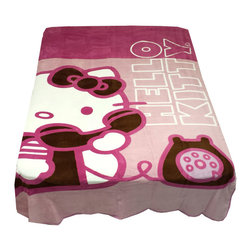 Franco Manufacturing - Hello Kitty Twin Blanket Ring Ring Telephone Bedding Cover - FEATURES: