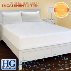 HealthGuard - HealthGuard Bed Protector Bed Bug Full-size Mattress Encasement System - Guard your bed against bed bugs with this full-size bed bug protector mattress encasement system. Perfect for those who living in big cities or areas where bed bugs are an issue, this mattress encasement system protects your mattress and your box spring.