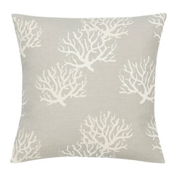 Look Here Jane, LLC - Coastal Grey Natural Pillow Cover - PILLOW COVER