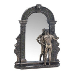 US - 12.75 Inch Figure Male Nude Standing at Mirror and Frame Display Decor - This gorgeous 12.75 Inch Figure Male Nude Standing at Mirror and Frame Display Decor has the finest details and highest quality you will find anywhere! 12.75 Inch Figure Male Nude Standing at Mirror and Frame Display Decor is truly remarkable.