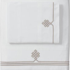 Traditional Sheet And Pillowcase Sets Bark Gobi Embroidered Sheet Set