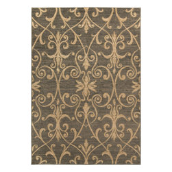 "Surya - Riley Rug RLY-5048 - 4' x 5'5"" - Both a bold zig-zag pattern and traditional organic pattern define the rugs in the Riley collection from Surya. While the zig zag pattern is a modern take on the traditional southwest style, the floral pattern of classic style is given a fresh perspective, combining it with geometric sections of different background colors. The Neural browns, tans and grays are delightfully balanced with a pop of cinnamon spice for added interest. Each rug is machine made in Turkey from 1% polypropylene."