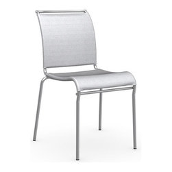 Calligaris - Air Chair, Satin Frame, Grey, Set of 2 - Satin Finished Steel Frame