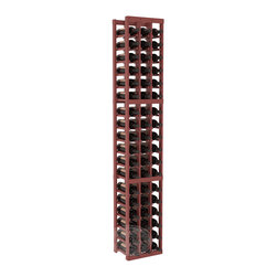 3 Column Standard Cellar Kit in Pine with Cherry Stain + Satin Finish - Each wine cellar rack meets Wine Racks America's unparalleled fabrication standards. Modular engineering provides universal kit compatibility which enables connoisseurs to mix and match wine rack kits until you achieve a personally-defined wine bottle storage system.