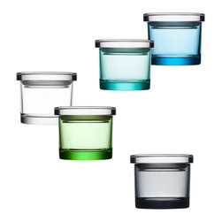 "iittala - iittala Glass Jars -  3"" - A perfect example of better living through better design, high-quality glass jars from Pentagon Designs provide storage solutions while adding a subtle decorative touch to your space. A wide range of sizes provide the perfect place for objects large and small, and a full spectrum of serene colors enhance the essence of whatever is put inside each jar.  Manufactured by iittala.  Designed in 2005."
