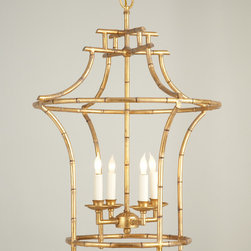 Chelsea House 68030 Bamboo Mini Chandelier - Delicate lines on a traditional pagoda shape make this chandelier feel contemporary. It would make a great focal point in a small entry or hallway.