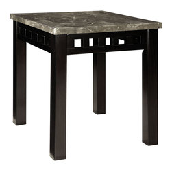 Standard Furniture - Standard Furniture Gateway Grey Rectangular End Table in Dark Chicory Brown - Impressive proportions and bold styling give Gateway Occasional Tables a dynamic contemporary personality.
