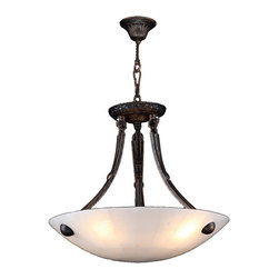 "Worldwide Lighting - Pompeii 14 Light Flemish Brass Finish Natural Quartz Stone Bowl Pendant 16"" Roun - This stunning 4-light Bowl Pendant only uses the best quality material and workmanship ensuring a beautiful heirloom quality piece. Featuring a radiant flemish brass finish and natural quartz stone from Spain, this elegant pendant will liven up any room. No synthetic process could replicate the natural beauty of this beautiful quartz pendant. Worldwide Lighting Corporation is a privately owned manufacturer of high quality crystal chandeliers, pendants, surface mounts, sconces and custom decorative lighting products for the residential, hospitality and commercial building markets. Our high quality crystals meet all standards of perfection, possessing lead oxide of 30% that is above industry standards and can be seen in prestigious homes, hotels, restaurants, casinos, and churches across the country. Our mission is to enhance your lighting needs with exceptional quality fixtures at a reasonable price."
