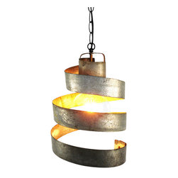 Wine Country Craftsman - Wine Barrel Ring Pendant Light - Large Open - Looking for a one of a kind pendant light?