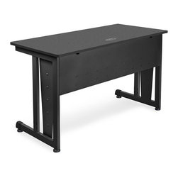 OFM - OFM Modular Computer/Privacy Table 24 x 48, Graphite - A modern looking and incredibly strong modular computer desk, this unit goes together in a snap with no tools required! Standard features include an underside modesty panel, adjustable glides, and a cable management system. Available options include back privacy panels, side privacy panels, a CPU holder, and a pullout keyboard.