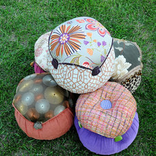 Eclectic Footstools And Ottomans by Salmagundi