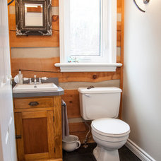 Rustic Powder Room by micheal lambie interiors