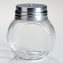 Round Spice Jars with Metal Shaker Lids, Set of 4 -