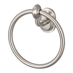 Water Creation - Water Creation BA-0004 Elegant Matching Glass Series Towel Ring - Transform your bathroom's decor to the elegance of yesteryear with Water Creation's line of coordinating vintage bathroom accessories.  Constructed of solid brass, Water Creation's towel racks, towel bars, towel rings, toilet paper holders, robe hooks, and shower caddies were all designed with durability in mind.  All accessories are offered in triple plated chrome, brushed nickel, polished nickel, and oil rubbed bronze finishes to accommodate your particular motif.