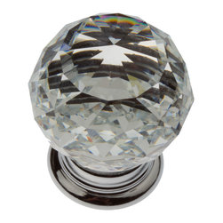 GlideRite - GlideRite 1.19-inch Clear K9 Crystal Cabinet Knobs (Pack of 10) - Update your kitchen cabinets or bathroom vanities with these beautiful K9 Crystal Cabinet Knobs. These knobs are the real deal for anyone wanting to add class and sophistication to their kitchen or bathroom cabinets.