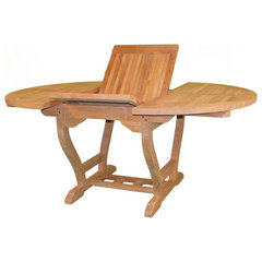 traditional outdoor tables by teakboutique.ca