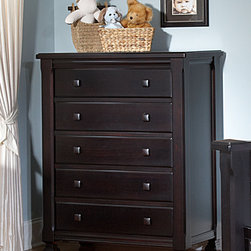 Everything Nice 5-Drawer Chest - •5 large drawers with dovetail drawer construction and metal drawer glides for smooth operation