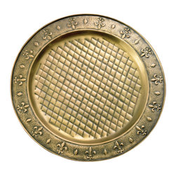 Old Dutch - Antique Brass 13-inch Charger Plates (Set of 6) - These hand-embossed charger plates create an elegant tabletop for a special occasion or for displaying favorite dishes with. Handcrafted by skilled artisans, the plates feature an antique brass finish.