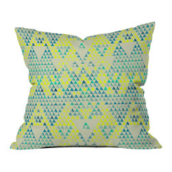 DENY Designs - Pattern State Triangle Marine Throw Pillow - Wanna transform a serious room into a fun, inviting space? Looking to complete a room full of solids with a unique print? Need to add a pop of color to your dull, lackluster space? Accomplish all of the above with one simple, yet powerful home accessory we like to call the DENY throw pillow collection! Custom printed in the USA for every order.