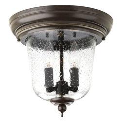 "Progress Lighting - Progress Lighting P5562-20 Ashmore 10-5/8"" Two Light Flush Mount Ceiling Fixture - Features:"