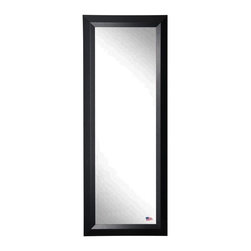 Rayne Mirrors - American Made Black Angle 21 x 60 Slender Body Mirror - Accent your favorite room with this classic, time honored, black full length mirror design.  Over-sized mirrors are every designers not-so-secret secret. From bringing in more light to making a small space feel larger to even adding a little drama to the space. Each Rayne mirror is hand crafted and made to order with American products.  All hardware included for vertical or horizontal hanging, or perfect to lean against a wall.