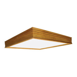 AFX Lighting - AFX Lighting CTK2U3R8 Oak CT Series Flush Mount - AFX Lighting CTK2U3R8 Oak CT Series Flush Mount