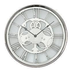 Z Gallerie - Metal Gear Wall Clock - This Metal Gear clock sure is classy.