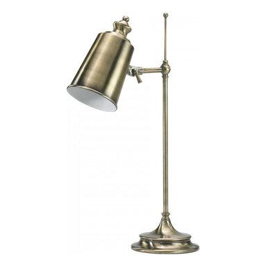 "Joshua Marshal - Brass 20.5"" Adjustable Brass Lamp from the Lighting Collection - Brass 20.5"" Adjustable Brass Lamp from the Lighting Collection"