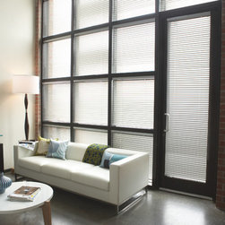 "Window Treatments for Bathrooms: Levolor 1"" Mini Blinds - Mini blinds are a great choice for bathrooms, and are especially proportional for smaller windows. With aluminum slats and parts, they'll never be at risk for rust or corrosion."