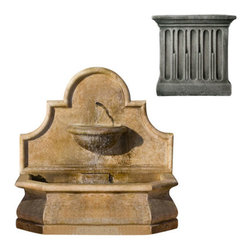 Campania International - Andalusia Fountain - Alpine Stone (AS) - 1,050 lbs. Shipping is available throughout the continental United States. As these fountains are made to order,_please allow 4 to 6 weeks for delivery. Drop ship is curbside delivery only.