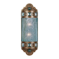 Scheherazade Blue Glass Sconce, 711150-3ST