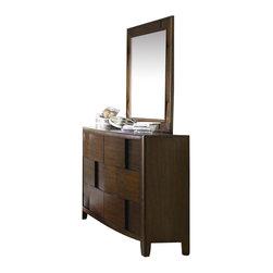 Magnussen - Magnussen Twilight 6 Drawer Dresser and Mirror Set in Chestnut - Magnussen - Kids Dressers - Y187620Y187642KIT