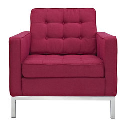 East End Imports - Loft Armchair in Wool Red Tweed - A style so classic you will recognize it instantly, this beautiful set will fill your living room with joy. Each piece is crafted for optimum comfort and fashion. Furnish your space with the best of modern classics.
