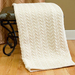 Quilted Cable Micro Mink Throw - Understated but elegant, this ivory blanket takes the cake. The soft texture will put you and your guests at ease.