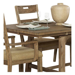 Homelegance - Homelegance Oxenbury Fabric Side Chair in Driftwood - The Oxenbury collection 's weathered driftwood finish brings your dining room the casual elegance of nature's beauty. Natural distressing on acacia veneers compliments this unadorned dining group.