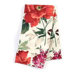 "Bright Red Painterly Floral Custom Napkin Set - Our Custom Napkins are sure to round out the perfect table setting""""_whether you're looking to liven up the kitchen or wow your next dinner party. We love it in this vibrant floral in warm red, berry & emerald on smooth sateen. modern in color, traditional in style: an energetic bouquet for any room."