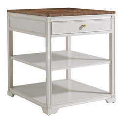 Stanley Furniture - Charleston Regency-Carolina End Table - Versatile enough to be used as a bedside or end table, the Carolina End Table has one drawer and two fixed shelves.