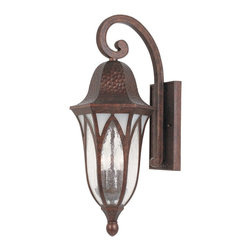 """Designers Fountain - Designers Fountain Berkshire Outdoor Lighting Fixture - Shown in picture: 9"""" Cast Wall Lantern in Burnished Antique Copper finish"""