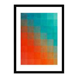 Curioos - Beach Pixel Surface, Framed Digital Art Print - Framed and Signed Giclee art print (2014). Numbered Edition with a certificate of authenticity. Edited by Curioos on 100% cotton rag, Premium Portfolio 220gsm matte art paper.