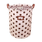 Big Coffee Dot Cotton Cloth Storage - GreenForest has been focused on household items since 2005 which also is a registered trademark