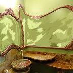 Custom Decorative Vanity and Mirror -