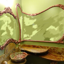 Custom Decorative Vanity and Mirror -
