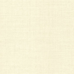 Brewster Home Fashions - Valois Beige Linen Texture Wallpaper Bolt - An organic unrefined cotton hue is exalted by a gentle pearl finish in this linen texture wallpaper.