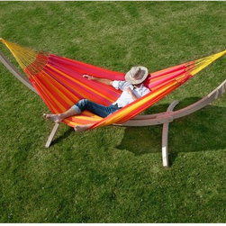 Coolaroo - Coolaroo Double Person Hammock - 462277 - Shop for Hammocks from Hayneedle.com! Enjoy extra room for relaxing in the Coolaroo Double Person Hammock. This two-person hammock is made from fully recyclable polypropylene. The environmentally-friendly material is lightweight and hydrophobic. You'll love the vibrant colors and comfortable design.