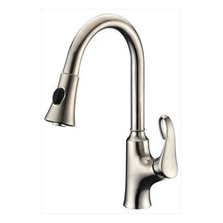 Dawn - Dawn AB06 3292BN Single-Lever Pull-out Kitchen Faucet Brushed Nickel - Dawn AB063292BN Single-lever pull-out kitchen faucet, Brushed Nickel
