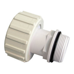 SUNSOLAR - Direct Connector For Cartridge Filter System And Pump 2 1/2 Inch To 2 Inch - Connector fitting with o-rings is used to join the cartridge filter to your pool pump. Fits on most cartridge systems and pumps. One end has a threaded inside diameter of 2 1/2 inches. Other end has a threaded outside diameter of 2 inches.