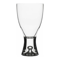 Iittala - Tapio Red Wine, Set of 2, 8.5 Oz. Clear - You don't have to have a long stemmed glass to enjoy a fine red wine. The solid base on these glasses will add an artful touch to your sipping experience. And when the bottle is finished, simply put them in the dishwasher for easy cleanup.