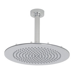 """Hudson Reed - 12"""" Bathroom Chrome Shower Head Rainfall Effect Overhead & 6"""" Round Ceiling Arm - This 12"""" shower head complete with round ceiling mounted arm from Hudson Reed is perfect for adding a touch of designer style to any bathroom. Featuring a chrome finish and easy to clean nozzles, this high quality shower head will transform your daily shower routine into pure luxury."""