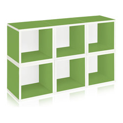 Way Basics - Way Basics Stackable Modular Storage 6 Cubes, Green - This sleek and modern storage unit will hold all your stuff in style — and is easy on the environment to boot. It's sustainably made from recycled paper and uses paper dowels to hold the pieces together. But fear not, it's water resistant, is super easy to put together and is modular in every sense of the word. A six-pack of cubes comes ready to assemble in a range of configurations so you can stash books, boots, games and office gear anywhere you need a little cool organization.